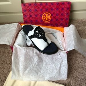 Tory Burch Shoes - Tory Burch Scalloped Miller Sandal perfect black